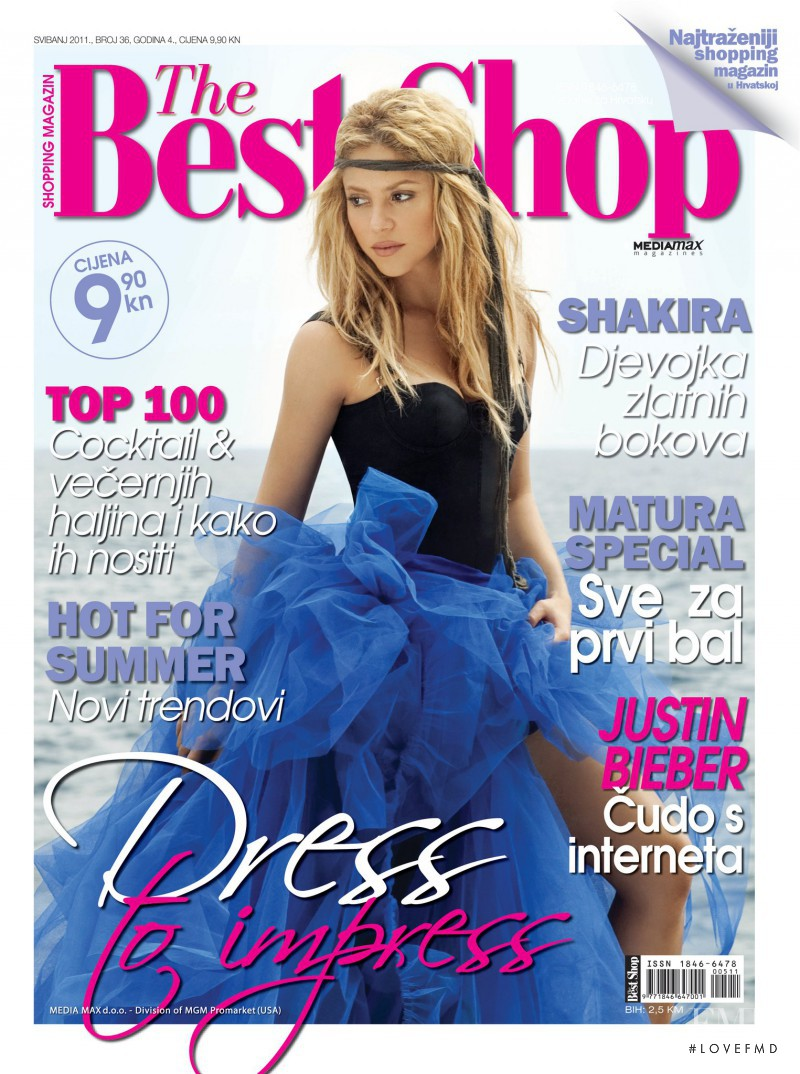 Shakira featured on the The Best Shop Croatia cover from May 2011