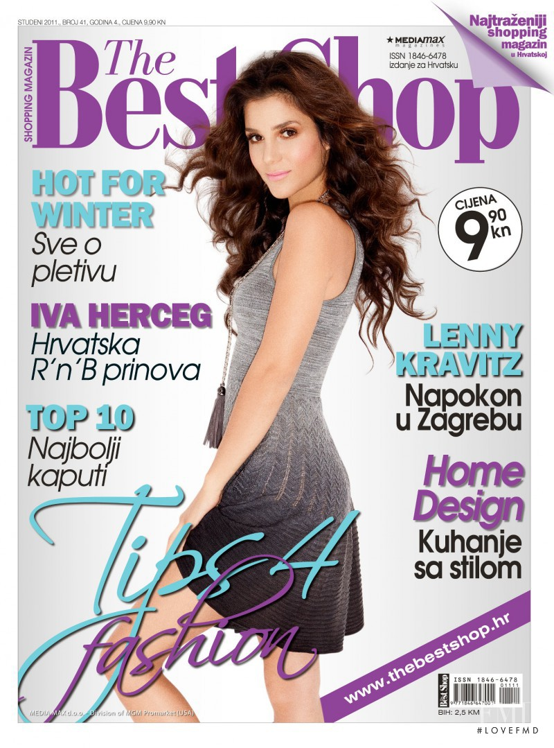 Iva Herceg featured on the The Best Shop Croatia cover from November 2011