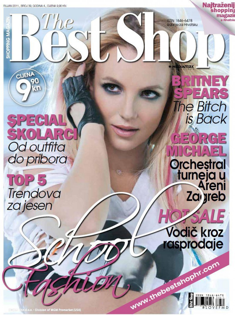 Britney Spears featured on the The Best Shop Croatia cover from September 2011