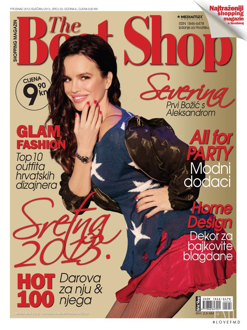 Severina featured on the The Best Shop Croatia cover from December 2012