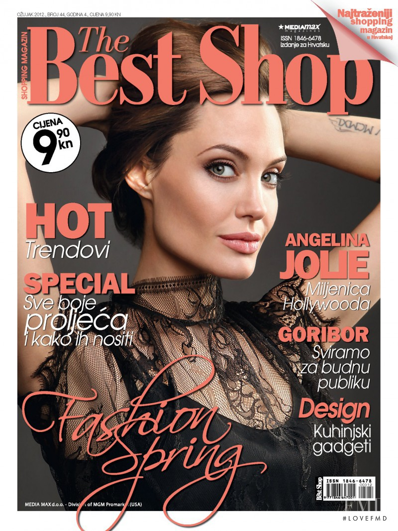 Angelina Jolie featured on the The Best Shop Croatia cover from March 2012