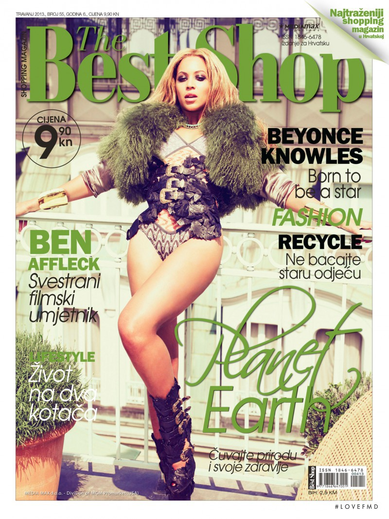 Beyonce Knowles featured on the The Best Shop Croatia cover from April 2013