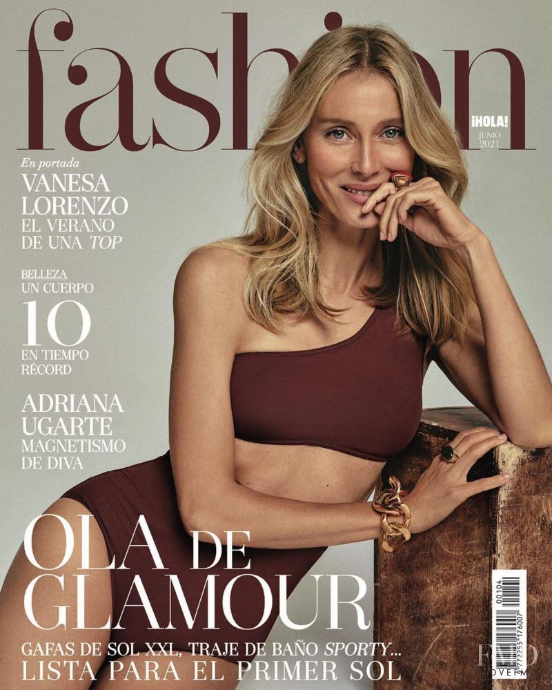 Vanessa Lorenzo featured on the Hola! Fashion cover from June 2021