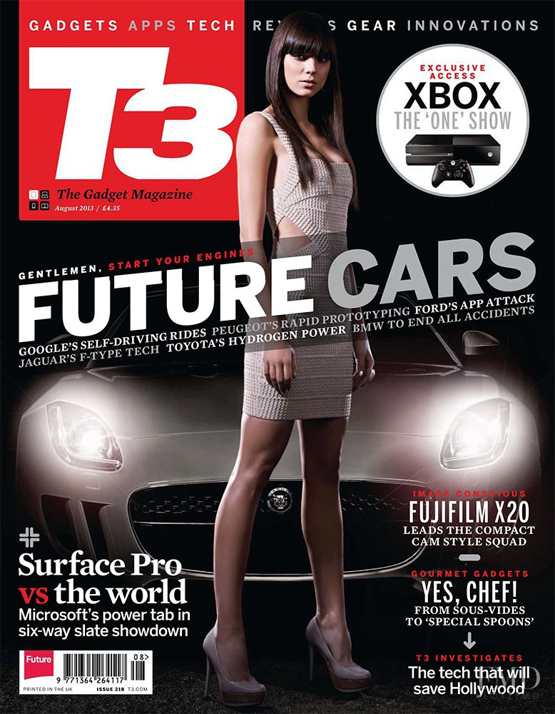 Mira Vaclavova featured on the T3 cover from August 2013