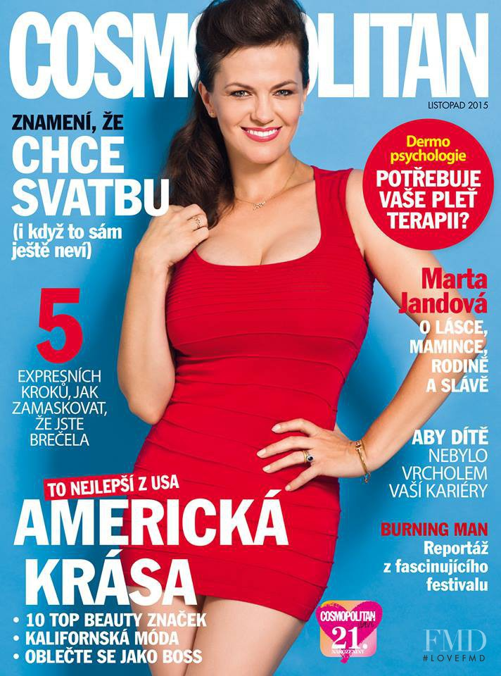 featured on the Cosmopolitan Czech Republic cover from November 2015
