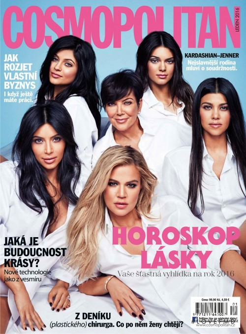Kendall Jenner featured on the Cosmopolitan Czech Republic cover from January 2016