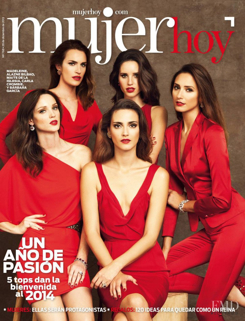Madeleine Hjort, Mayte de la Iglesia, Barbara Garcia, Carla Crombie, Alazne Bilbao featured on the Mujer Hoy cover from December 2013