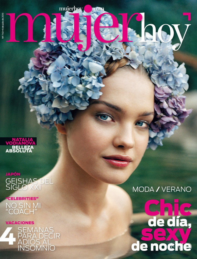 Natalia Vodianova featured on the Mujer Hoy cover from July 2013