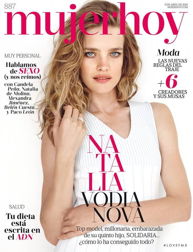 Natalia Vodianova featured on the Mujer Hoy cover from April 2016