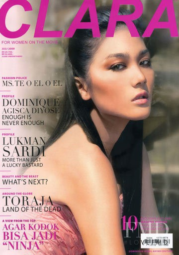 Dominique Diyose featured on the Clara Indonesia cover from July 2009