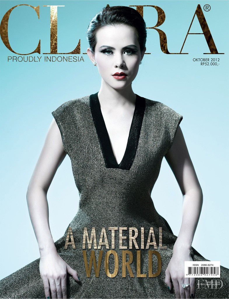 Angel Lelga featured on the Clara Indonesia cover from October 2012