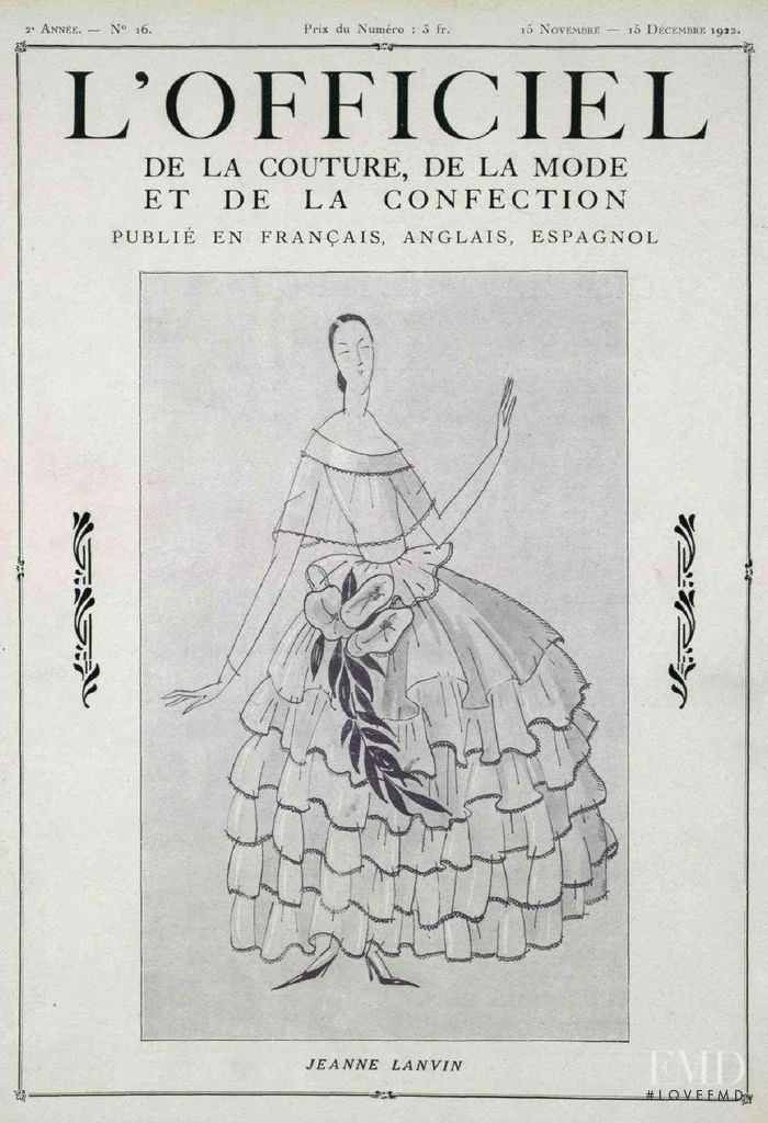featured on the L\'Officiel France cover from November 1922