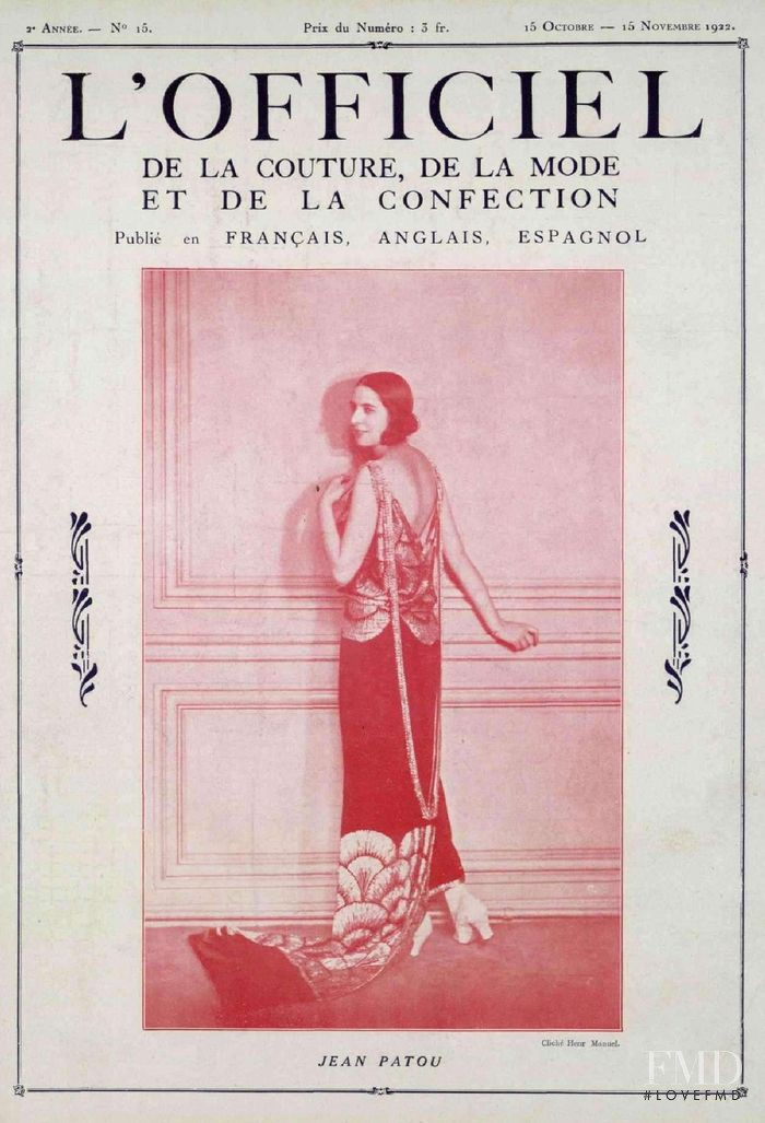 featured on the L\'Officiel France cover from October 1922