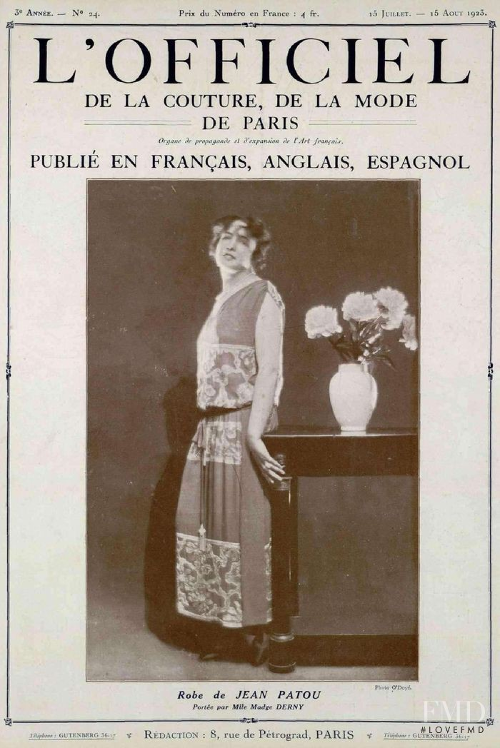featured on the L\'Officiel France cover from July 1923