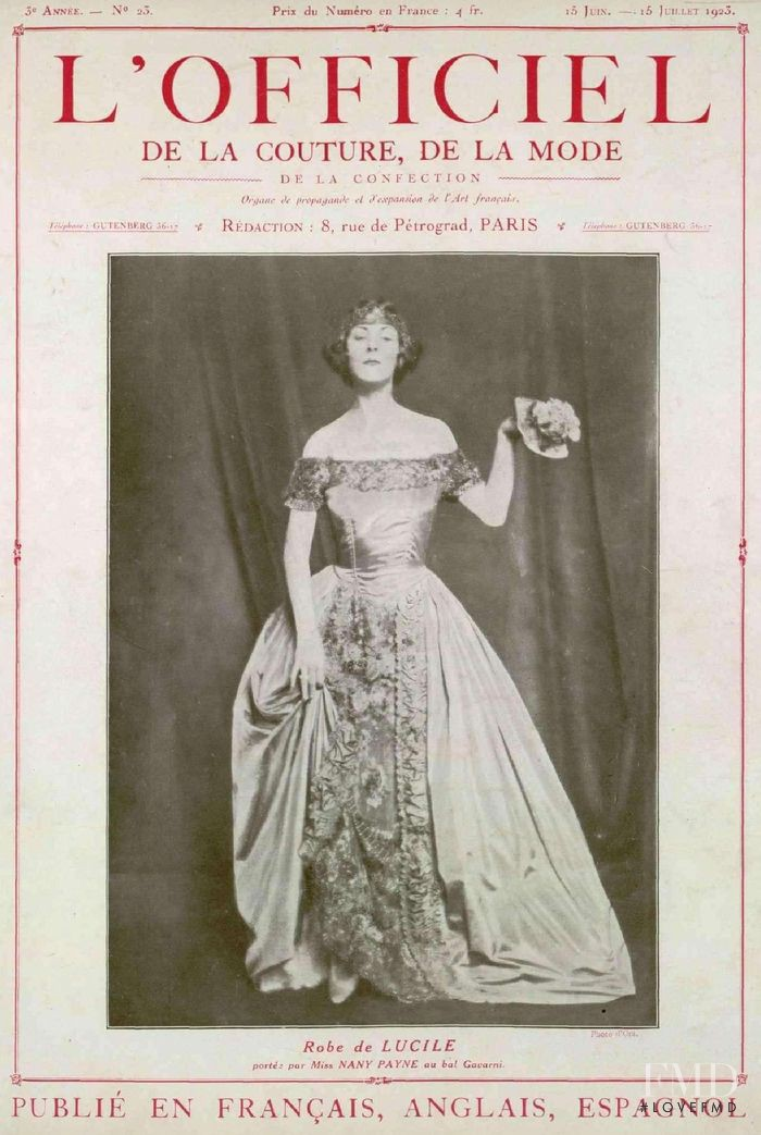 featured on the L\'Officiel France cover from June 1923