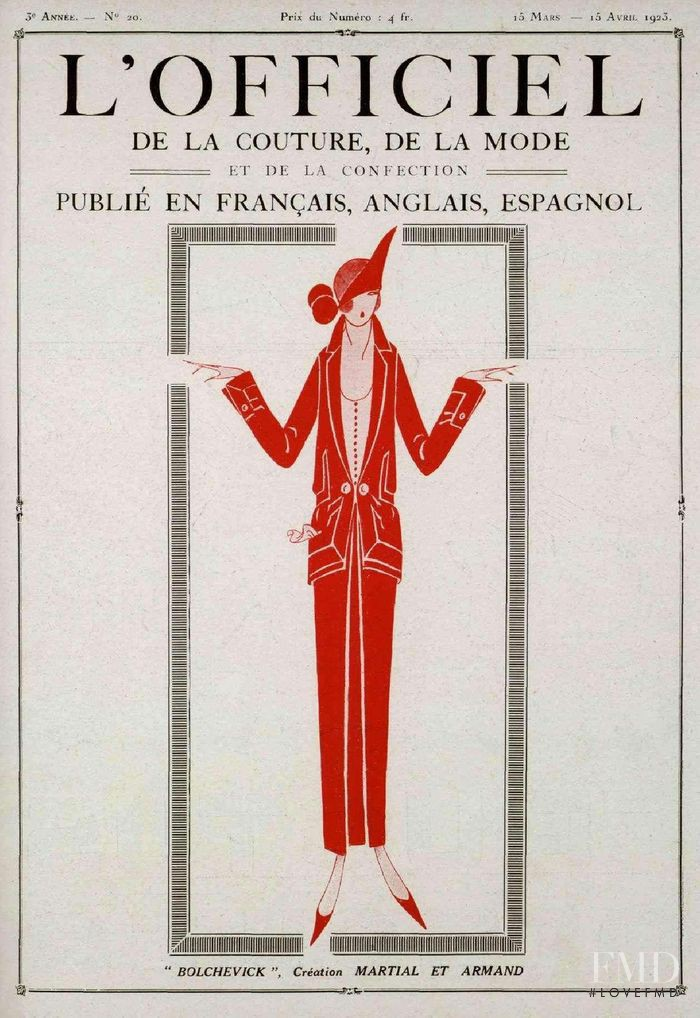 featured on the L\'Officiel France cover from March 1923
