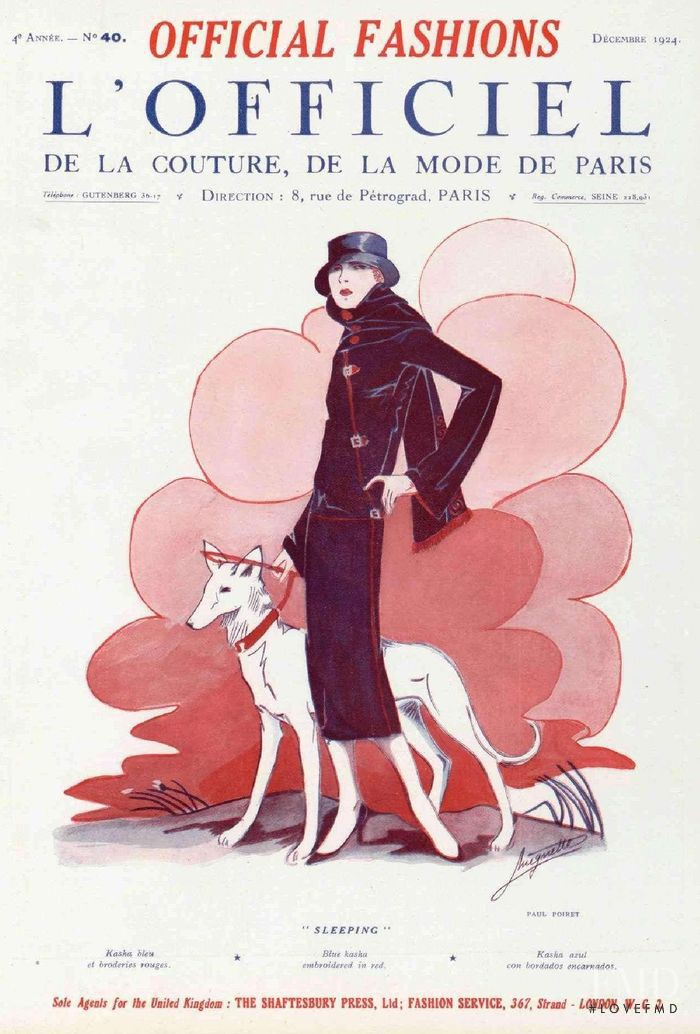 featured on the L\'Officiel France cover from December 1924