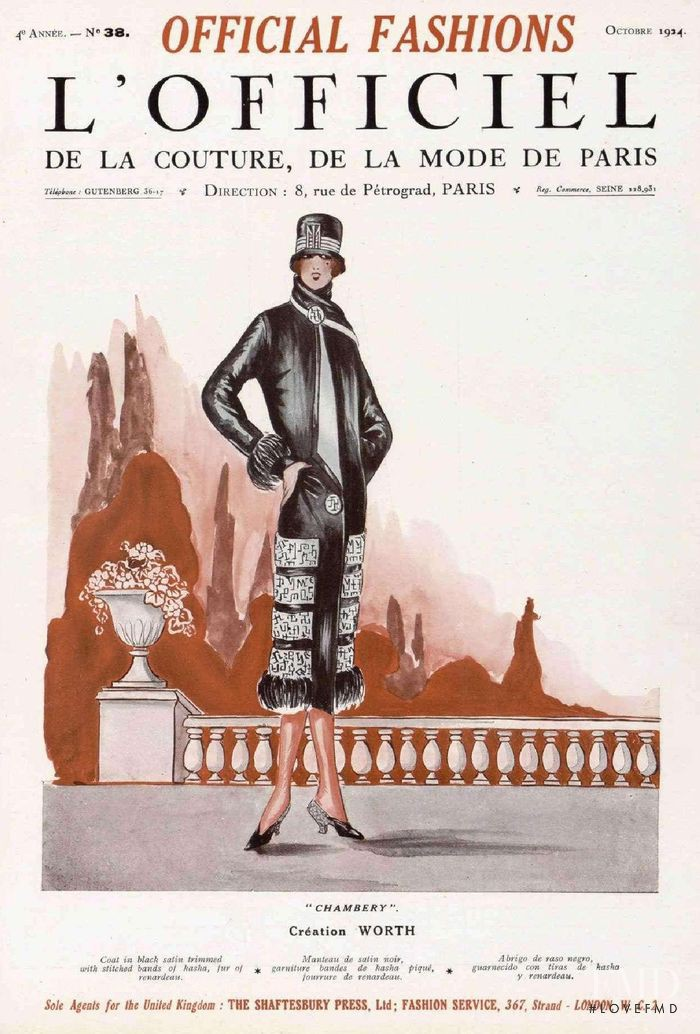featured on the L\'Officiel France cover from October 1924