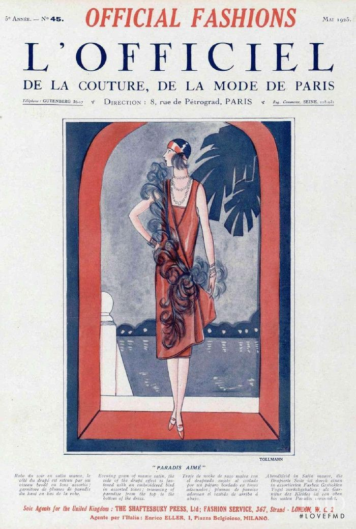 featured on the L\'Officiel France cover from May 1925
