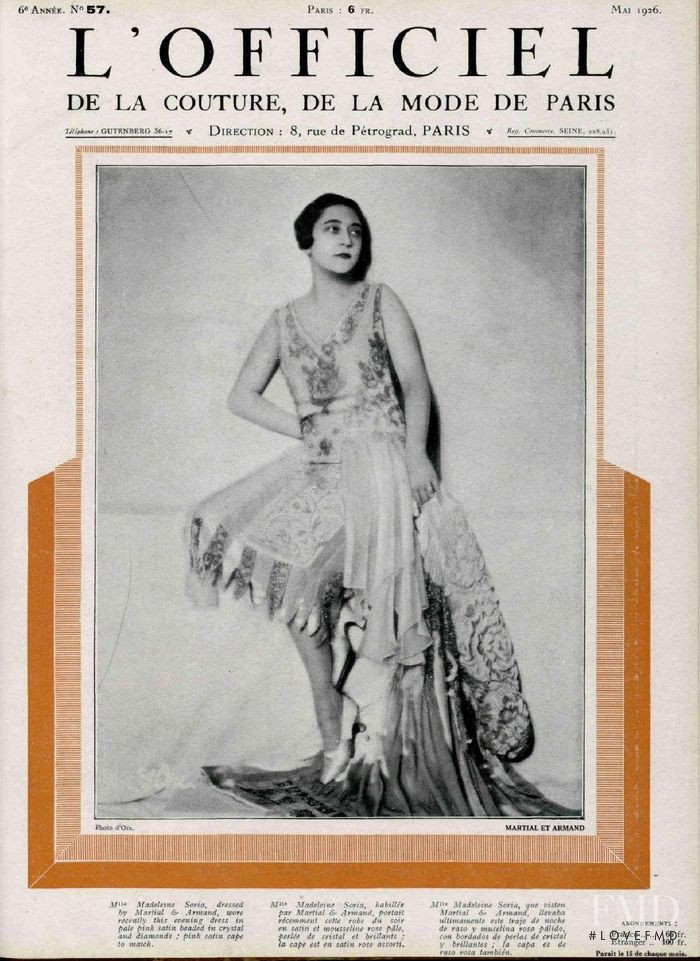 featured on the L\'Officiel France cover from May 1926
