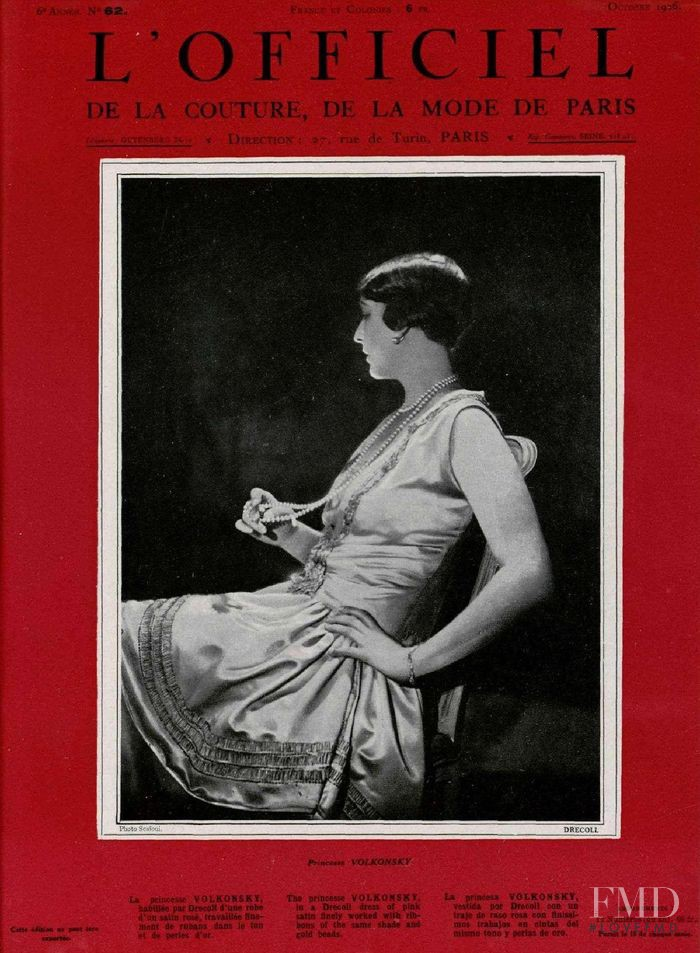 featured on the L\'Officiel France cover from October 1926