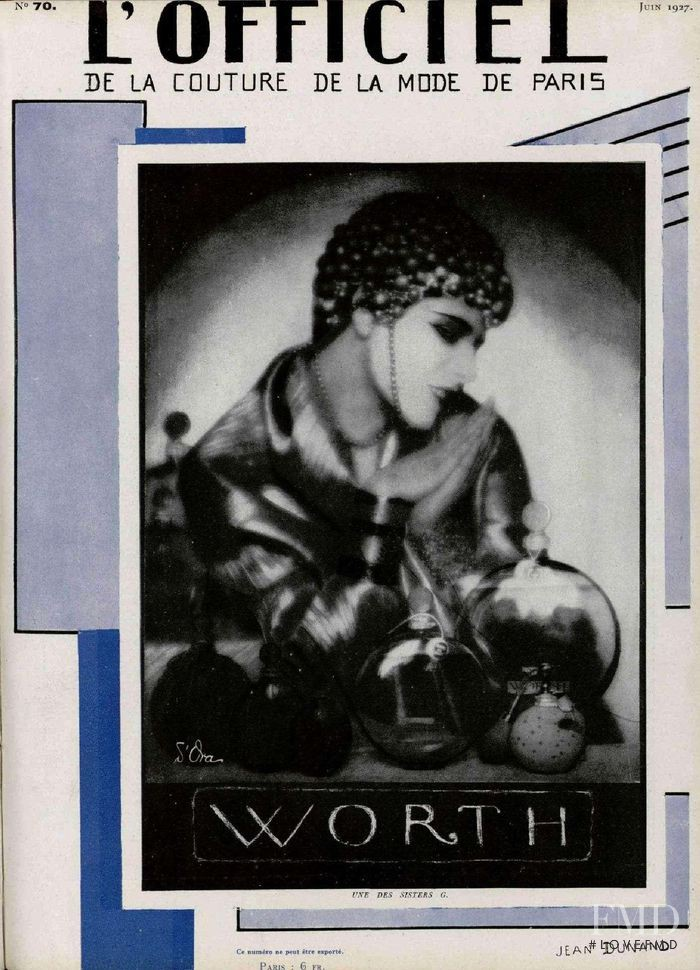 featured on the L\'Officiel France cover from June 1927