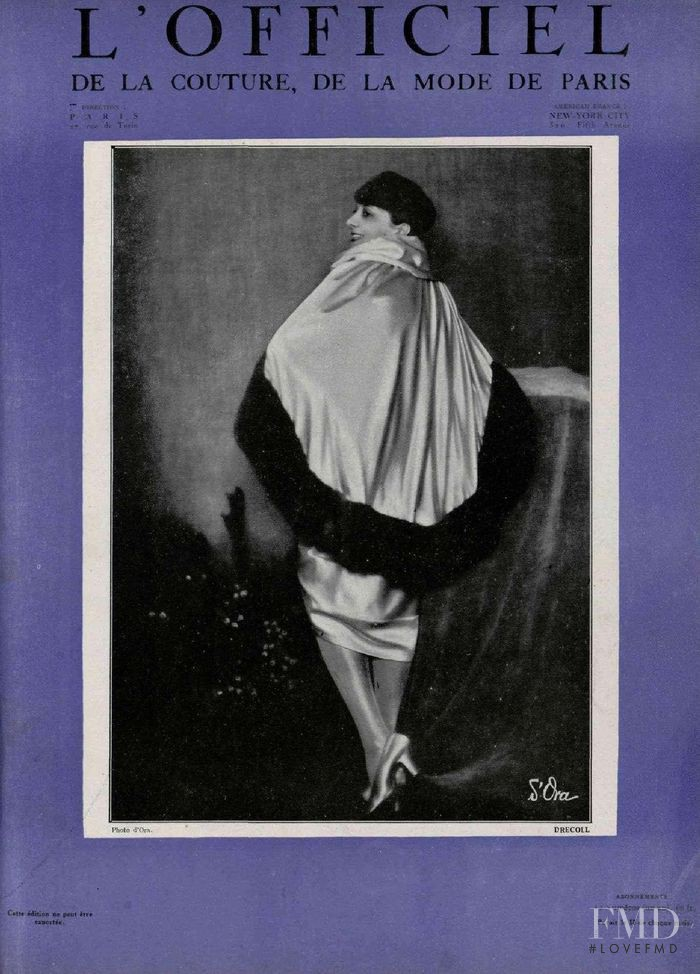 featured on the L\'Officiel France cover from March 1927
