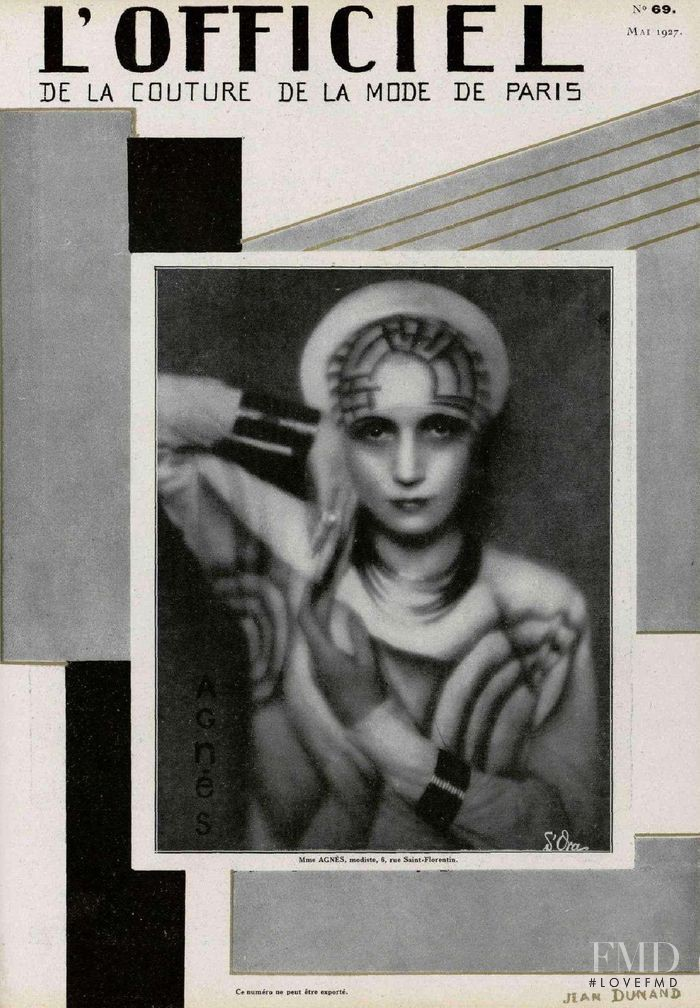 featured on the L\'Officiel France cover from May 1927