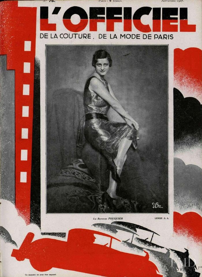featured on the L\'Officiel France cover from November 1927