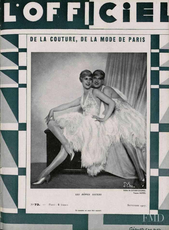 featured on the L\'Officiel France cover from September 1927