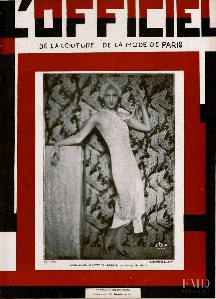 featured on the L\'Officiel France cover from April 1928