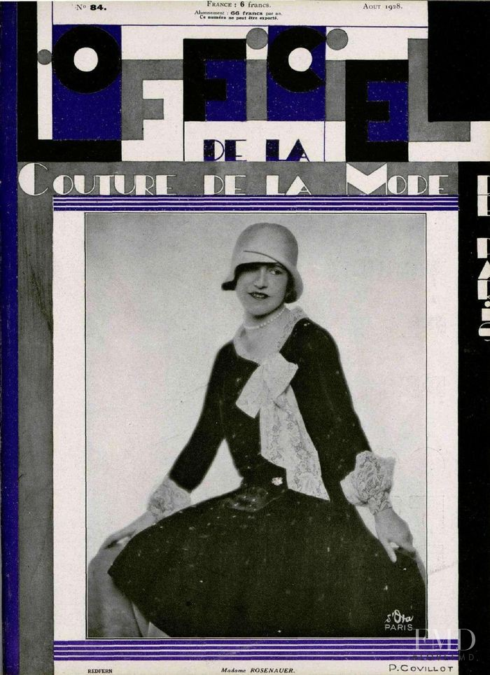 featured on the L\'Officiel France cover from August 1928