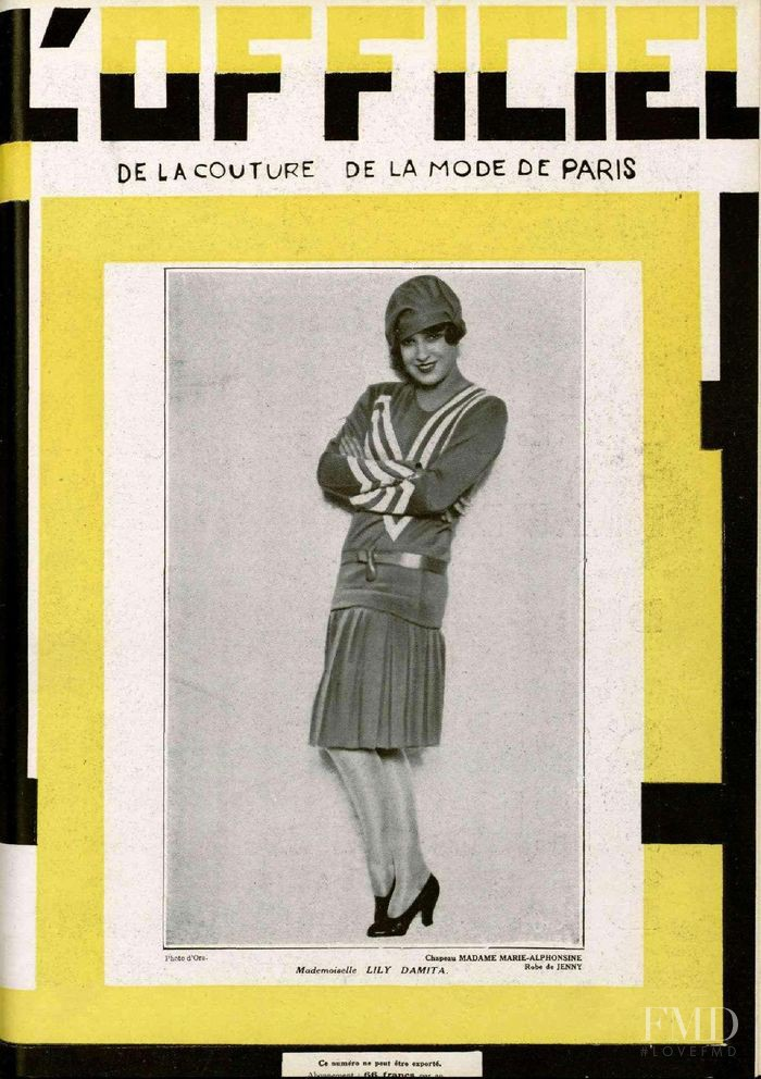 featured on the L\'Officiel France cover from June 1928