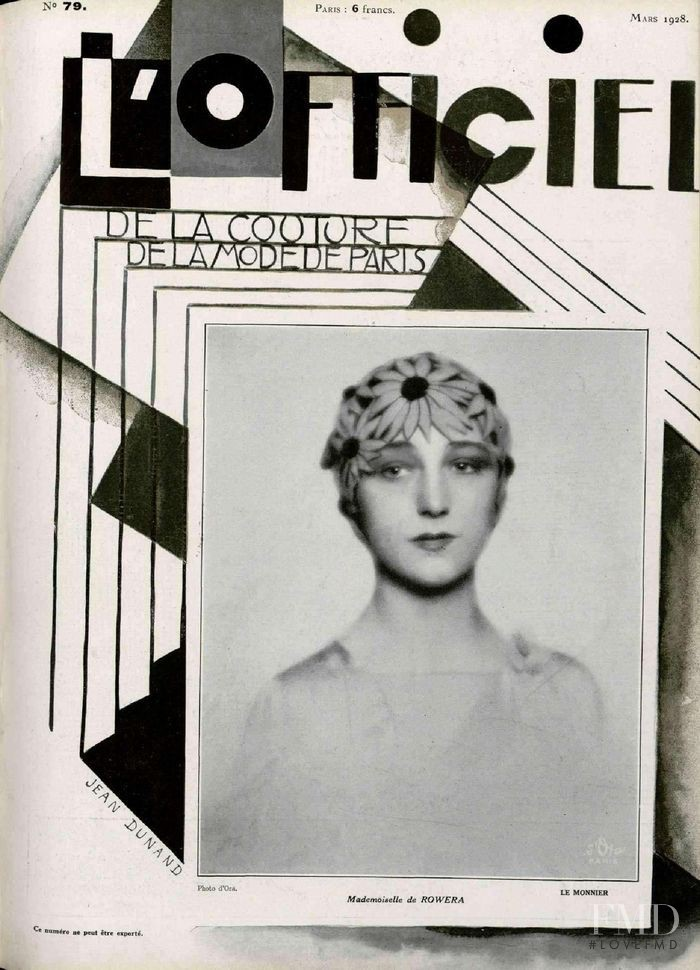 featured on the L\'Officiel France cover from March 1928