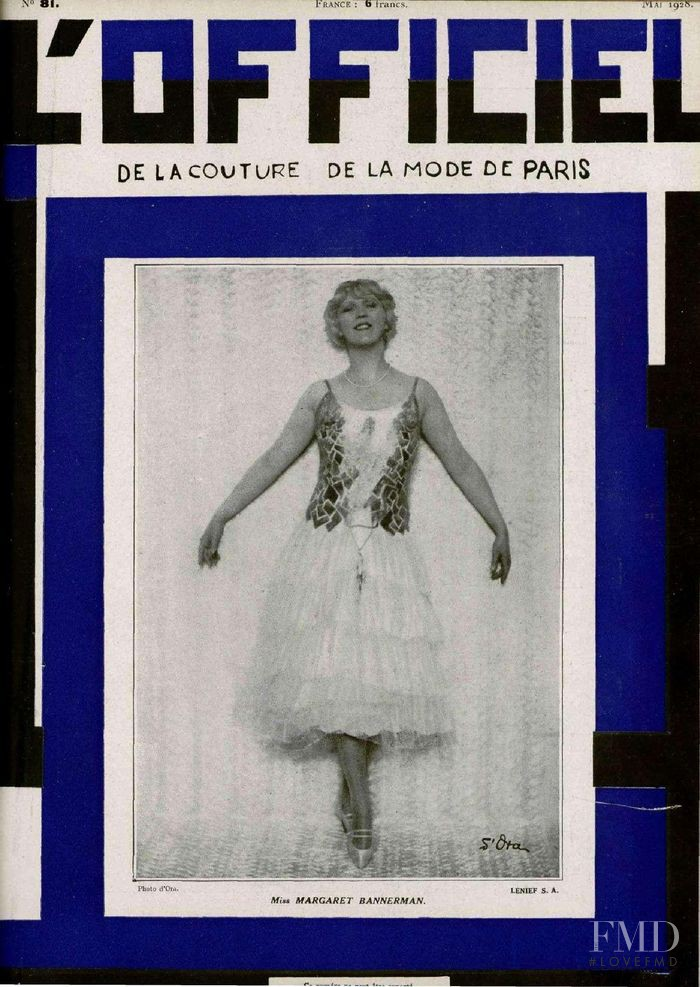 featured on the L\'Officiel France cover from May 1928
