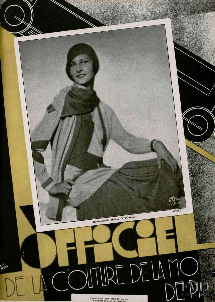 featured on the L\'Officiel France cover from November 1928