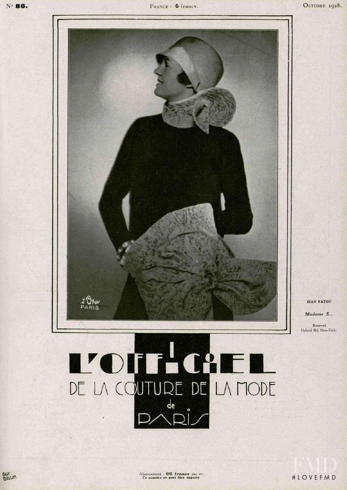 featured on the L\'Officiel France cover from October 1928