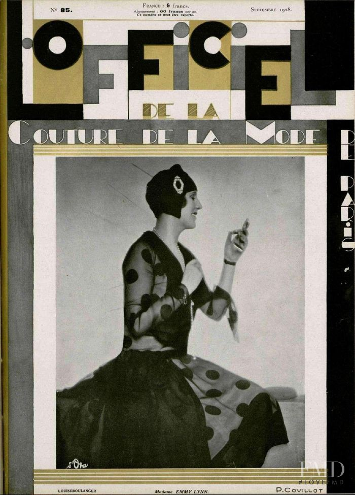 featured on the L\'Officiel France cover from September 1928