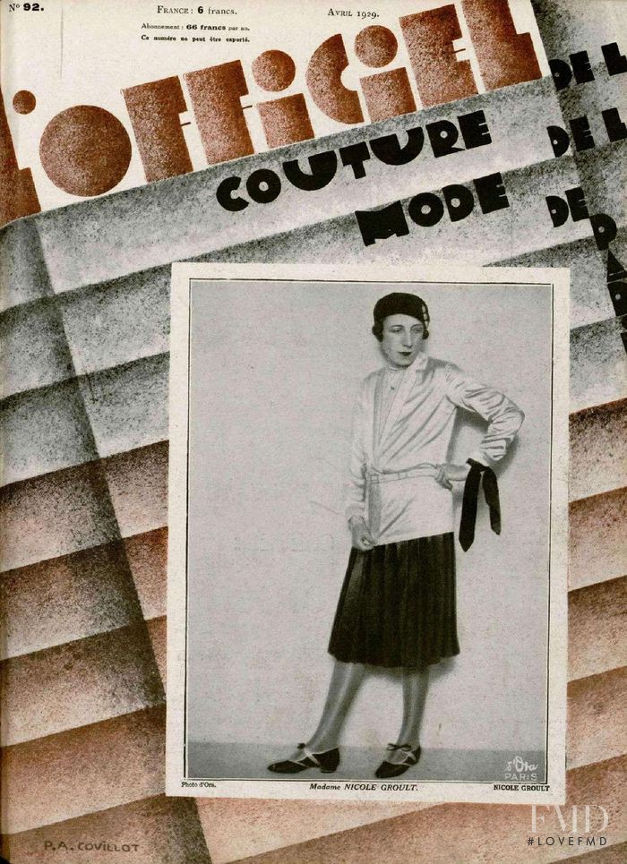 featured on the L\'Officiel France cover from April 1929