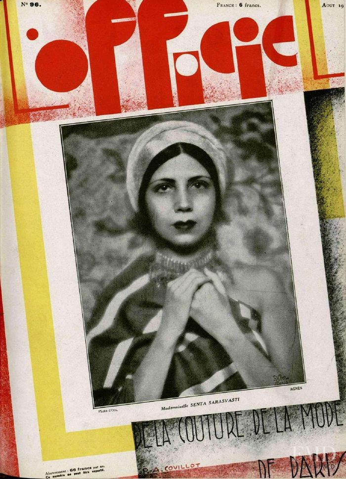 featured on the L\'Officiel France cover from August 1929