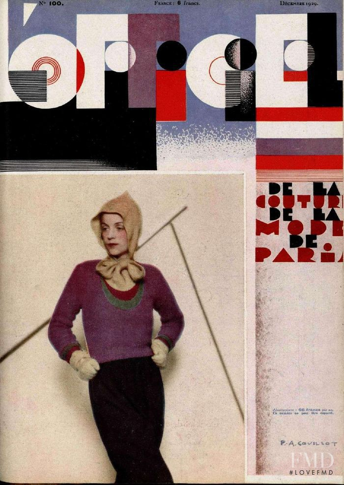 featured on the L\'Officiel France cover from December 1929