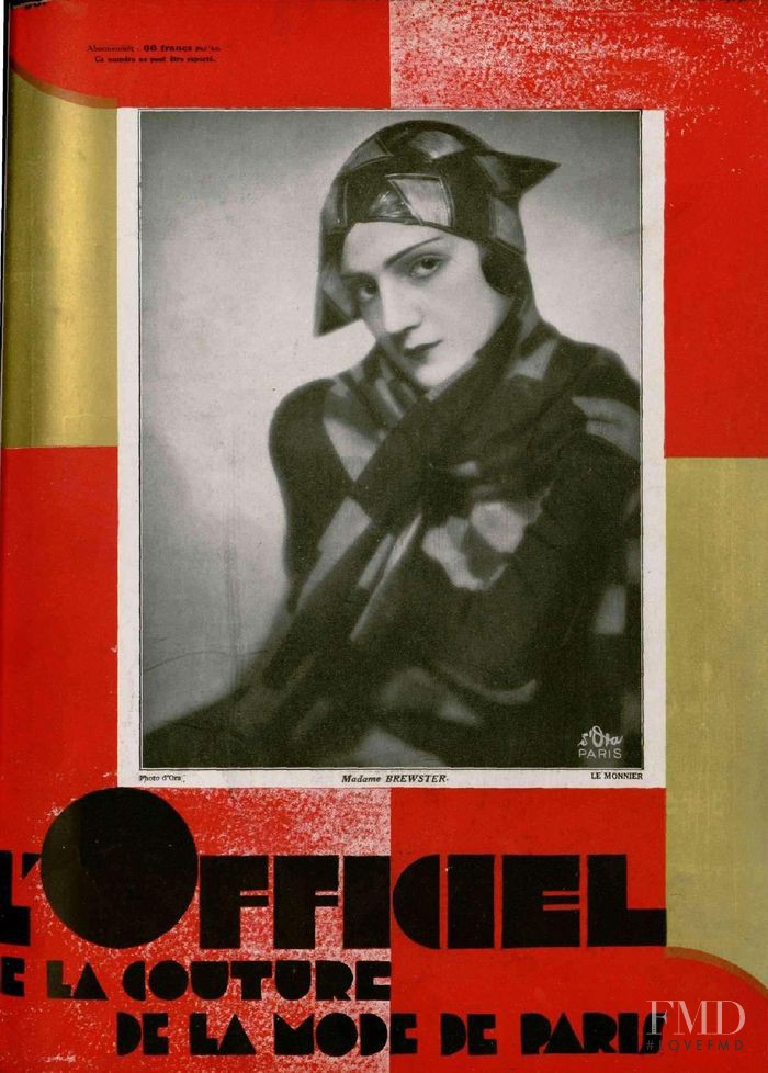 featured on the L\'Officiel France cover from February 1929