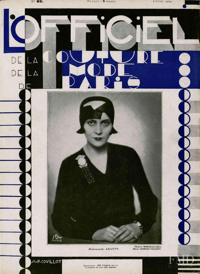 featured on the L\'Officiel France cover from January 1929
