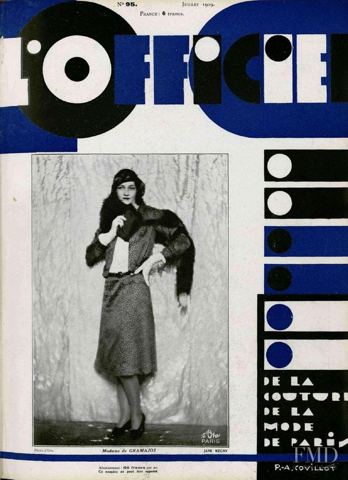 featured on the L\'Officiel France cover from July 1929