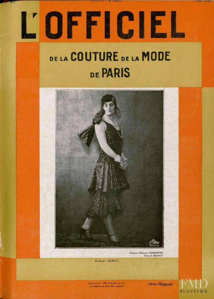 featured on the L\'Officiel France cover from March 1929