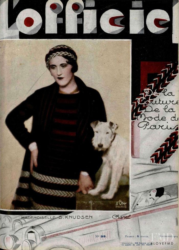 featured on the L\'Officiel France cover from November 1929