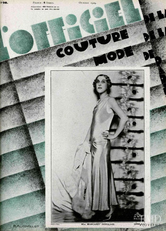 featured on the L\'Officiel France cover from October 1929