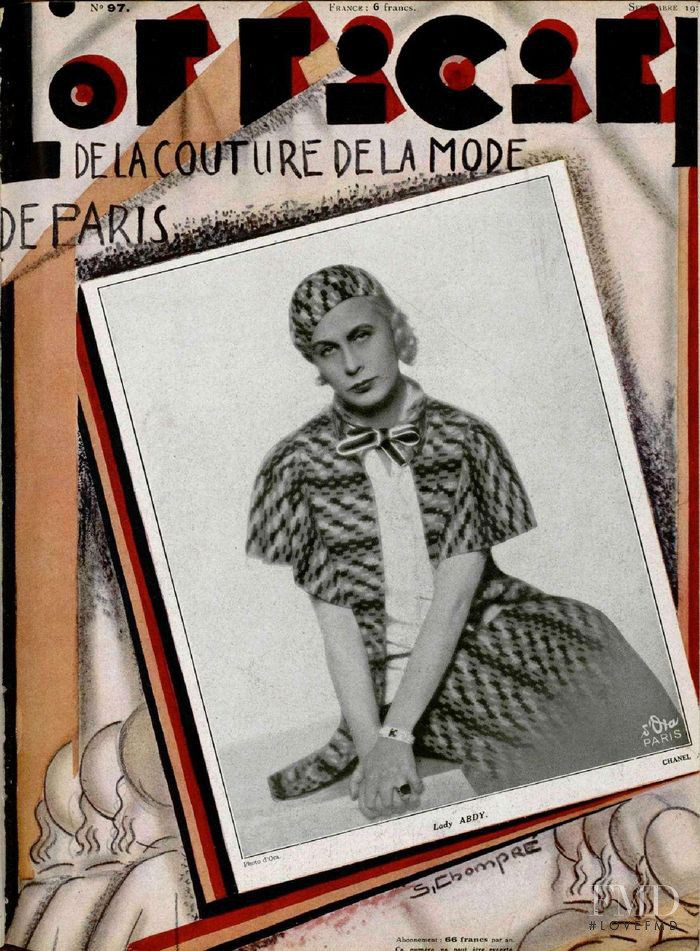 featured on the L\'Officiel France cover from September 1929