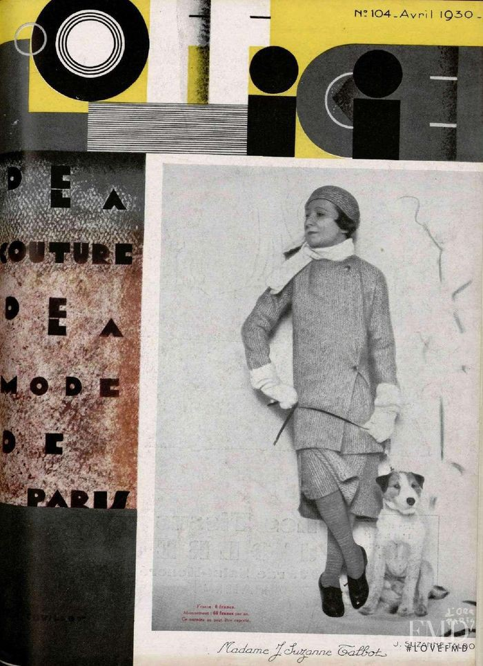 featured on the L\'Officiel France cover from April 1930