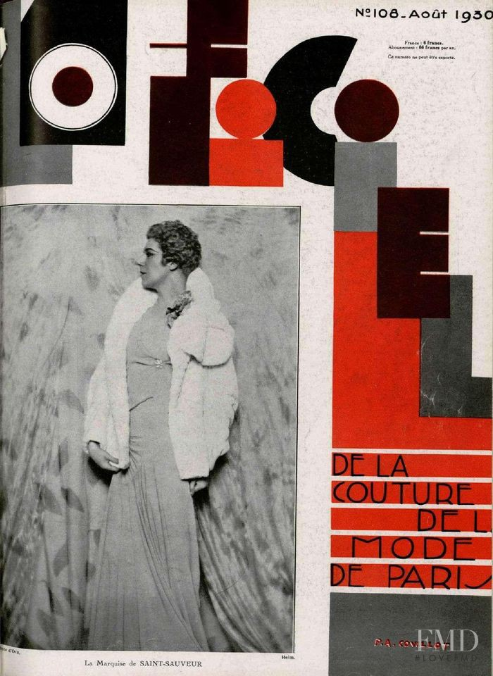 featured on the L\'Officiel France cover from August 1930